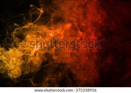 Smoke texture red and orange color pattern #375338956