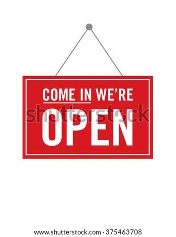 Vector Open Store Sign #375463708