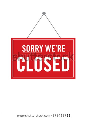 Vector Closed Store Sign #375463711