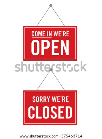 Vector Open and Closed Store Sign #375463714