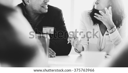 Business People Talking Discussing Concept Royalty-Free Stock Photo #375763966