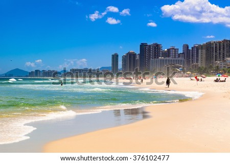 Beach in Barra da Tijuca, Rio de Janeiro. Brazil #376102477