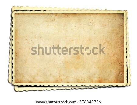 Old photo frame on white background