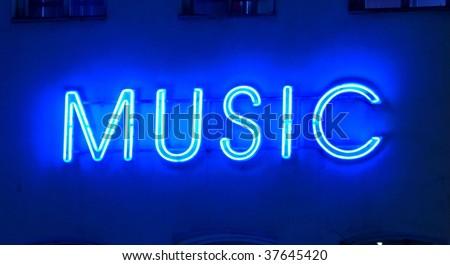 neon sign music
