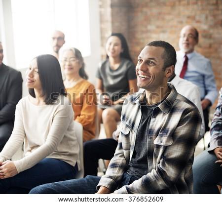 Corporate Seminar Conference Team Collaboration Concept #376852609