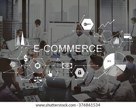 E-commerce Global Business Digital Marketing Concept #376861534