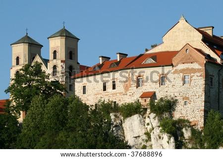 Benedictine abbey in Tyniec. Landmark of Krakow, Poland. #37688896
