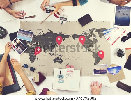 Business Travel Meeting Discussion Team Concept #376992082