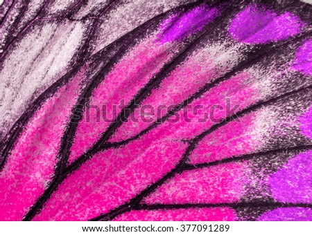 Macro closeup of butterfly wing texture background pattern. Royalty-Free Stock Photo #377091289