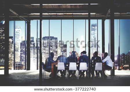 Business Team Meeting Discussion Workplace Concept Royalty-Free Stock Photo #377222740