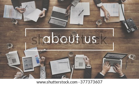 About Us Details Contact Data Info Communication Concept #377373607