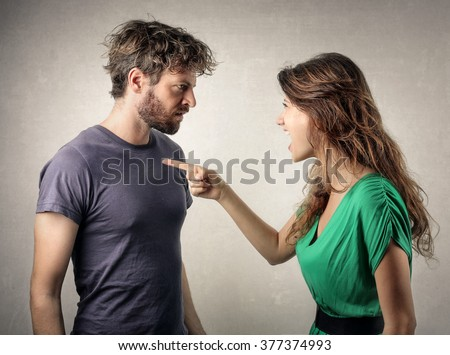 Couple in a fight Royalty-Free Stock Photo #377374993