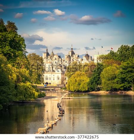 St james park in London, UK #377422675