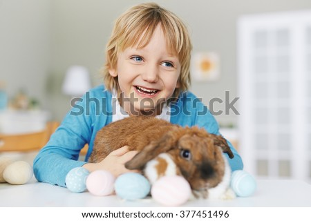 Boy with Easter friend #377451496