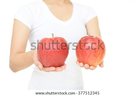 Woman with apples #377512345