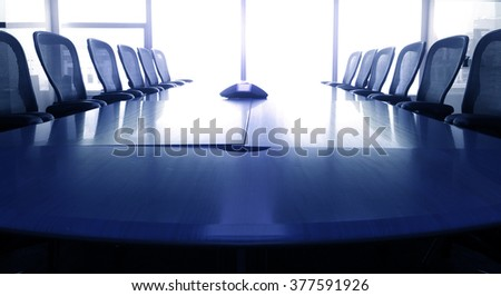 Business conference room or meeting room in bule tone/ For  business grow concept #377591926