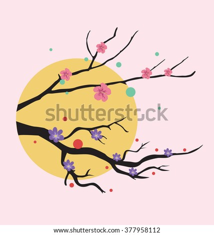 flower vector illustration #377958112