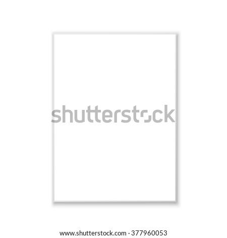 White paper. Vector illustration. #377960053