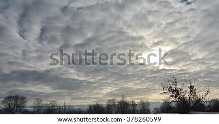 The February sky #378260599