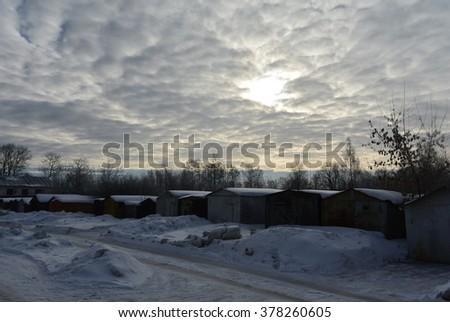The February sky #378260605
