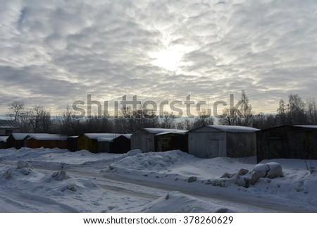 The February sky #378260629