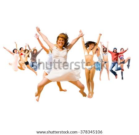 Winning Idea Jumping Together  #378345106