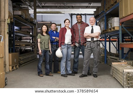 Workers in warehouse #378589654