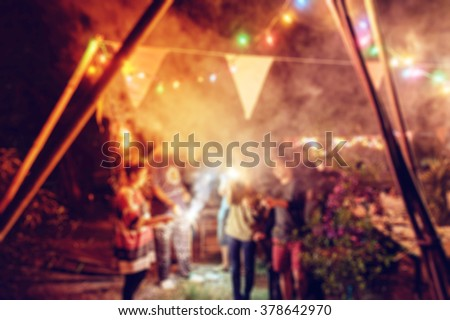 Blurred new year celebration people party #378642970