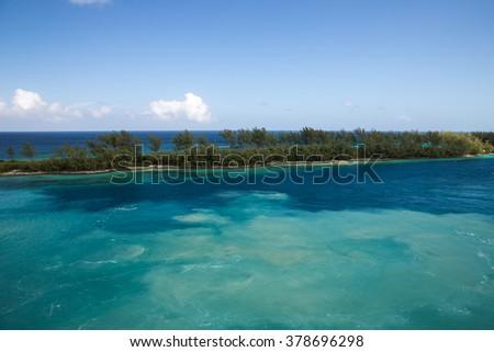 Nassau, Bahamas - December 29, 2015: View of Paradise Island in Nassau, Bahamas. #378696298
