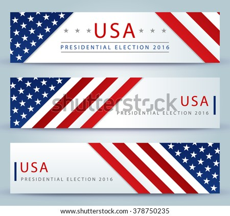 Presidential election banner background