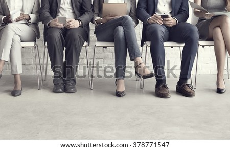 Human Resources Interview Recruitment Job Concept Royalty-Free Stock Photo #378771547