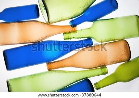 Coloured creative bottle #37880644