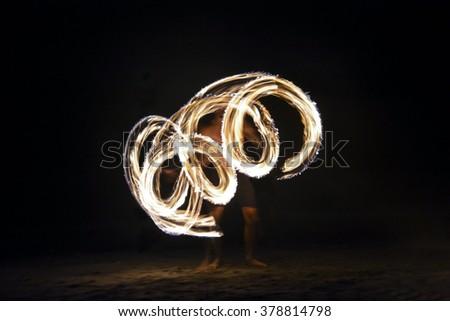 Fire show in Nadi, Fiji