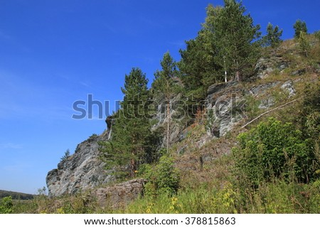 mountain forest landscape #378815863