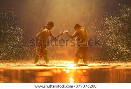 Muay thai, Thai Boxing Royalty-Free Stock Photo #379076200