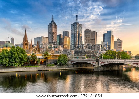 Melbourne CBD Royalty-Free Stock Photo #379181851
