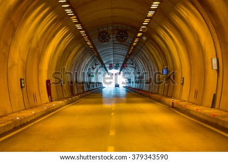 highway road tunnel #379343590