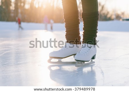 people, winter sport and leisure concept.