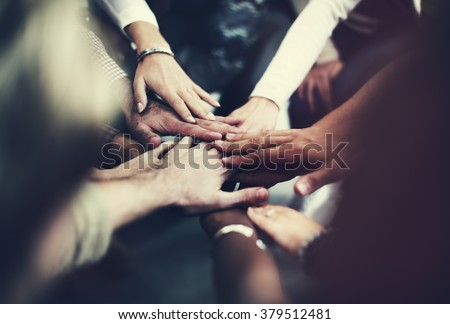 Teamwork Join Hands Support Together Concept #379512481