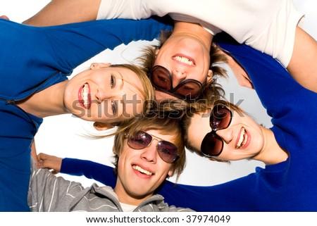 Friends in a huddle #37974049