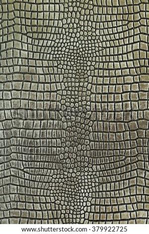Metallic crocodile skin shape texture background