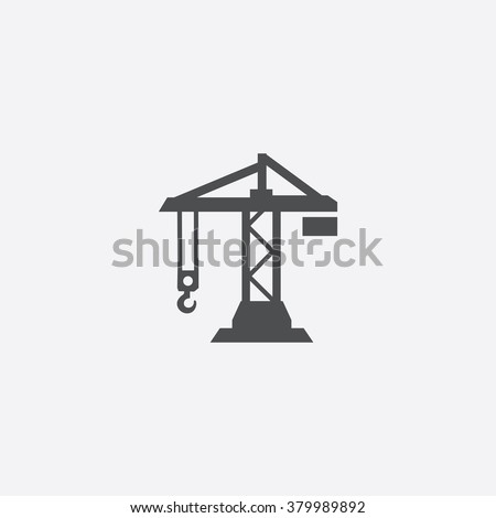 building crane Icon Vector Royalty-Free Stock Photo #379989892