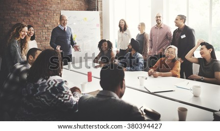 Conference Discussion Talking Sharing Ideas Concept Royalty-Free Stock Photo #380394427
