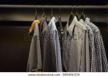 shirts in the wardrobe #380406334