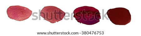 Hand painted abstract watercolor red blots #380476753