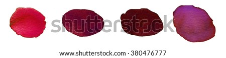 Hand painted abstract watercolor red blots #380476777