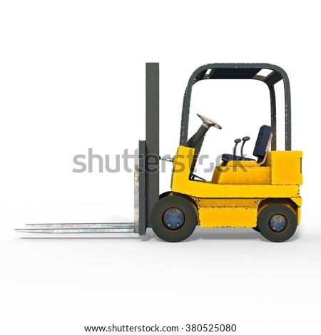 3D CG rendering of a forklift #380525080
