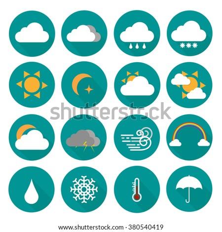 weather vector icon set #380540419