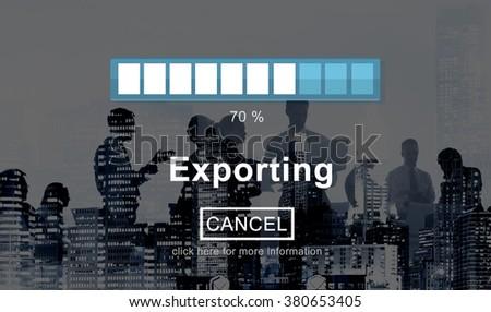 Exporting Files Progress Bar Concept