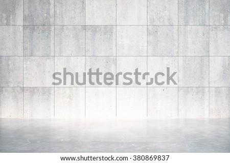 Empty room with concrete floor and wall 3D Render